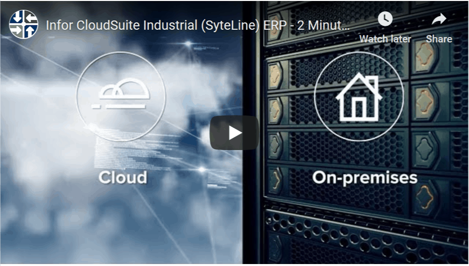 Infor CSI SyteLine Cloud and On-premises image