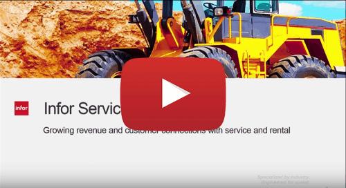 Infor SyteLine ERP Manufacturing Software Demo Service Management
