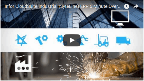 CloudSuite Industrial (SyteLine) ERP Manufacturing Software Demo