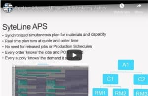 SyteLine Version 9 Advanced Planning and Scheduling Video demo