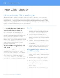 Infor CRM Mobile brochure download image