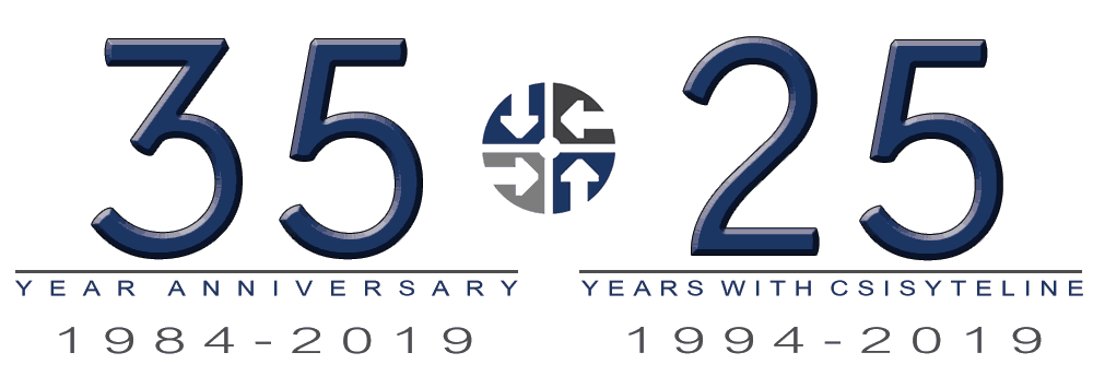 Godlan 35 year anniversary and 25 year annivesary with CSISyteLine logo