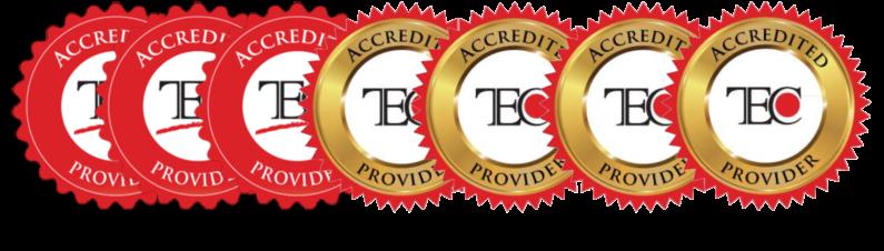 TEC Accrediation Logo 2013 through 2019