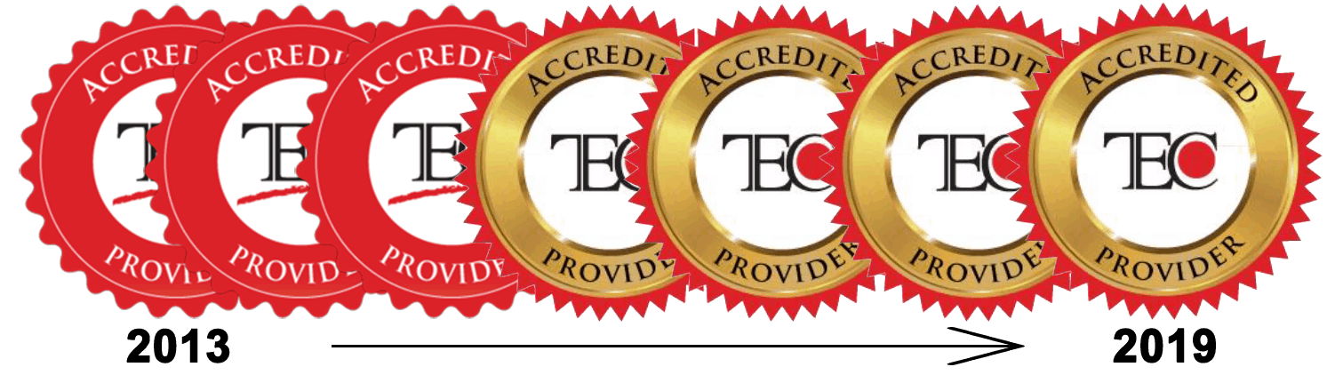 TEC Accrediation Logo 2013 through 2019