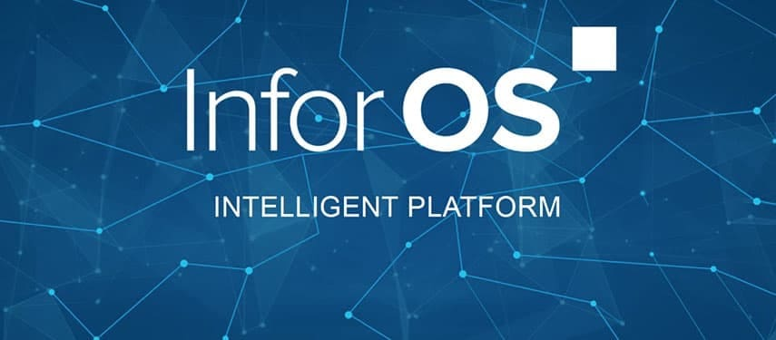 Infor OS logo dark blue background