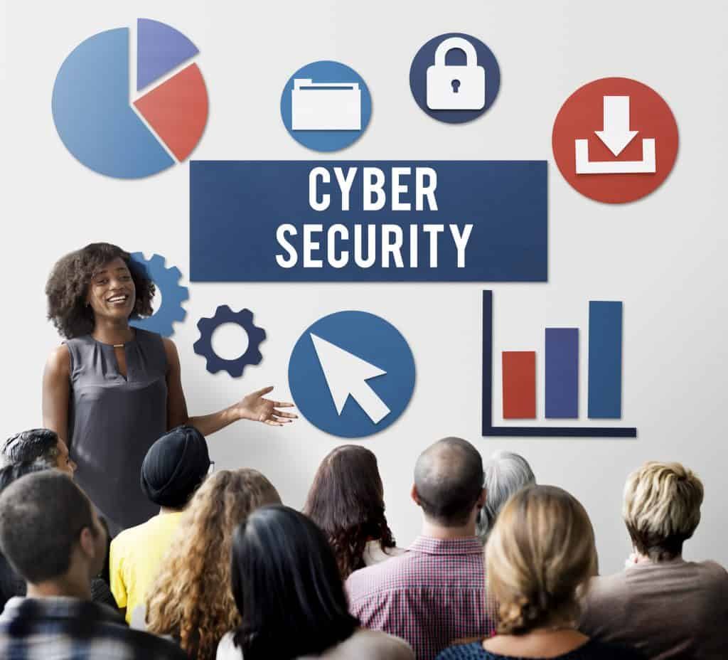 Cyber Security employees in a training