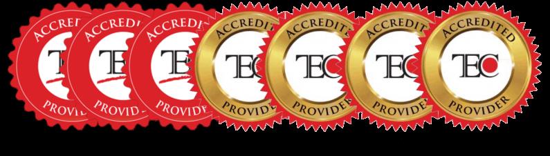 TEC Logo Accreditation Years 2013 - 2020
