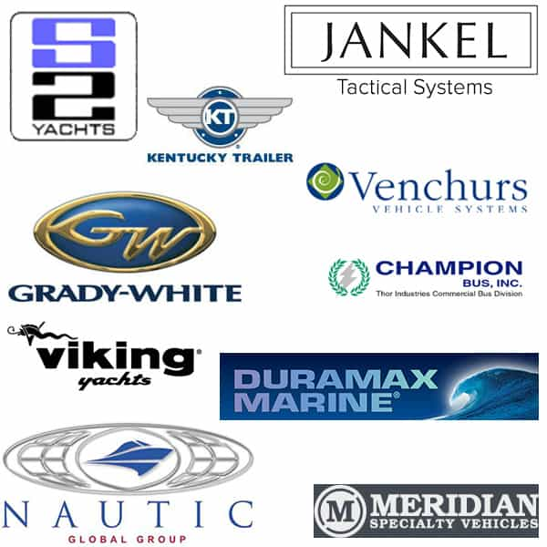 Infor SyteLine ERP Specialty Vehicle, Automotive, Boat, Yacht, Trailer manufacturing software sample logos