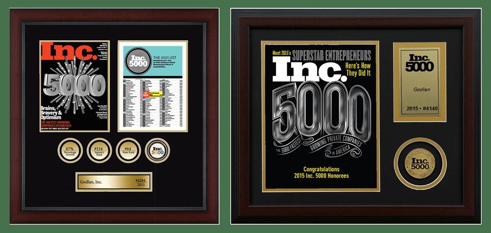 Godlan Inc. 5000 Awards