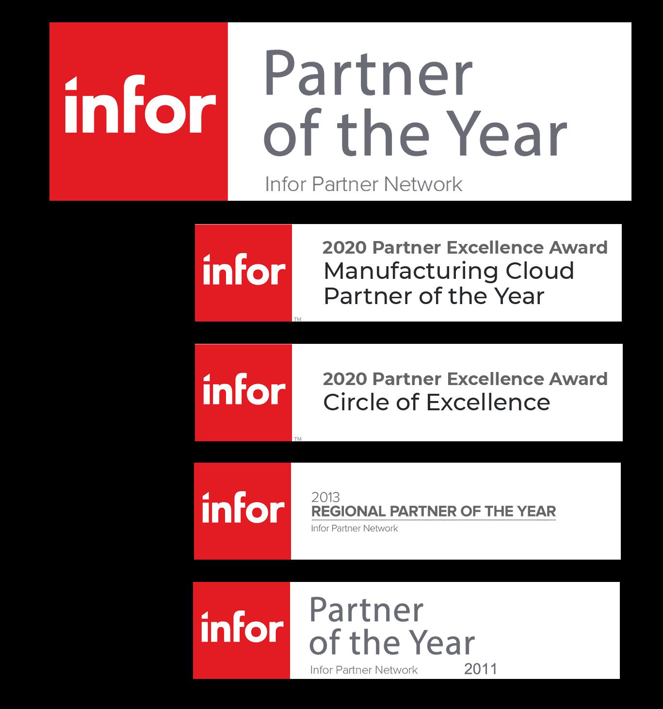 Godlan Infor Partner of the Year Awards
